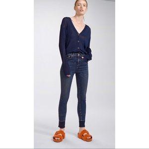 Rag & Bone High Rise Skinny Ankle Vee Jeans
